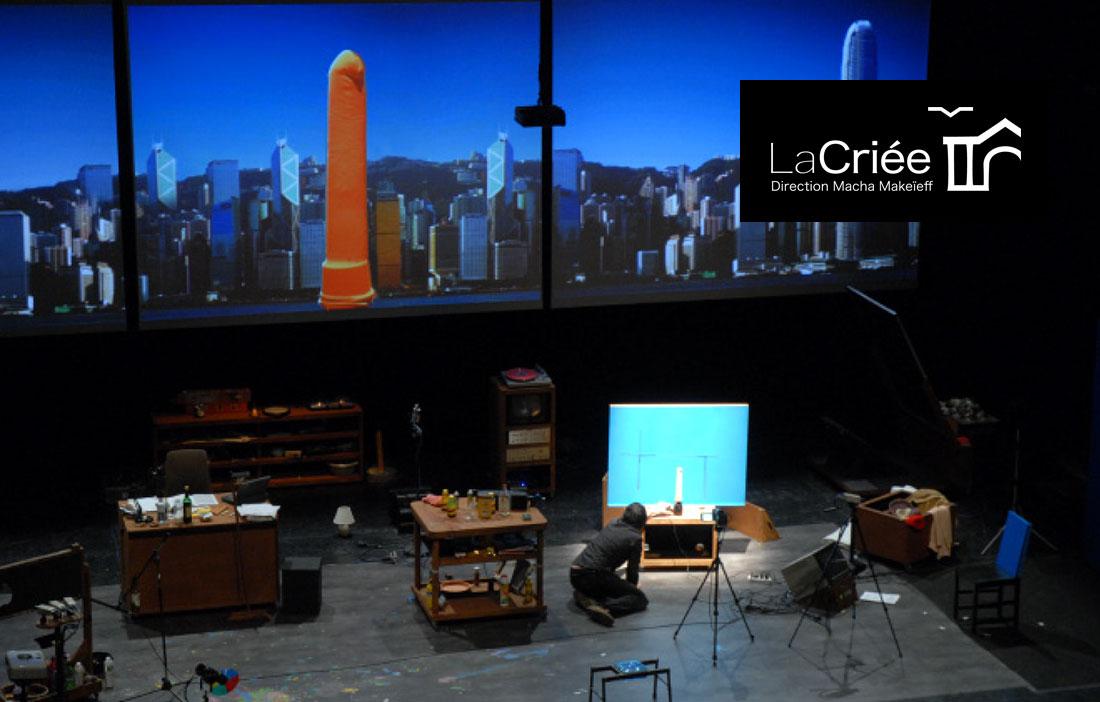 Théâtre National de Marseille La Criée - «Invasion» de Pierrick Sorin