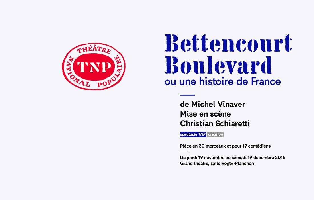 TNP Villeurbanne - Direction Christian Schiaretti - «Bettencourt Boulevard» de Michel Vinaver