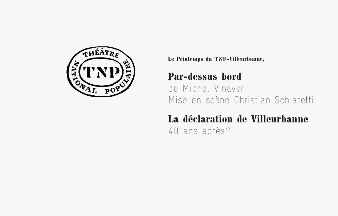 TNP Villeurbanne - Direction Christian Schiaretti - «Par-Dessus Bord» de Michel Vinaver